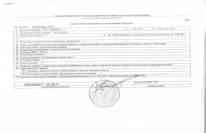 Продаётся Земельный участок АР Крым пгт.Николаевка 4,691 га.